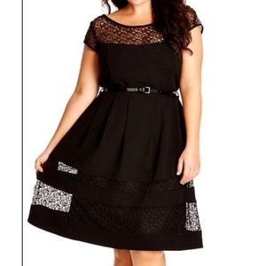 City Chic delicate lace dress